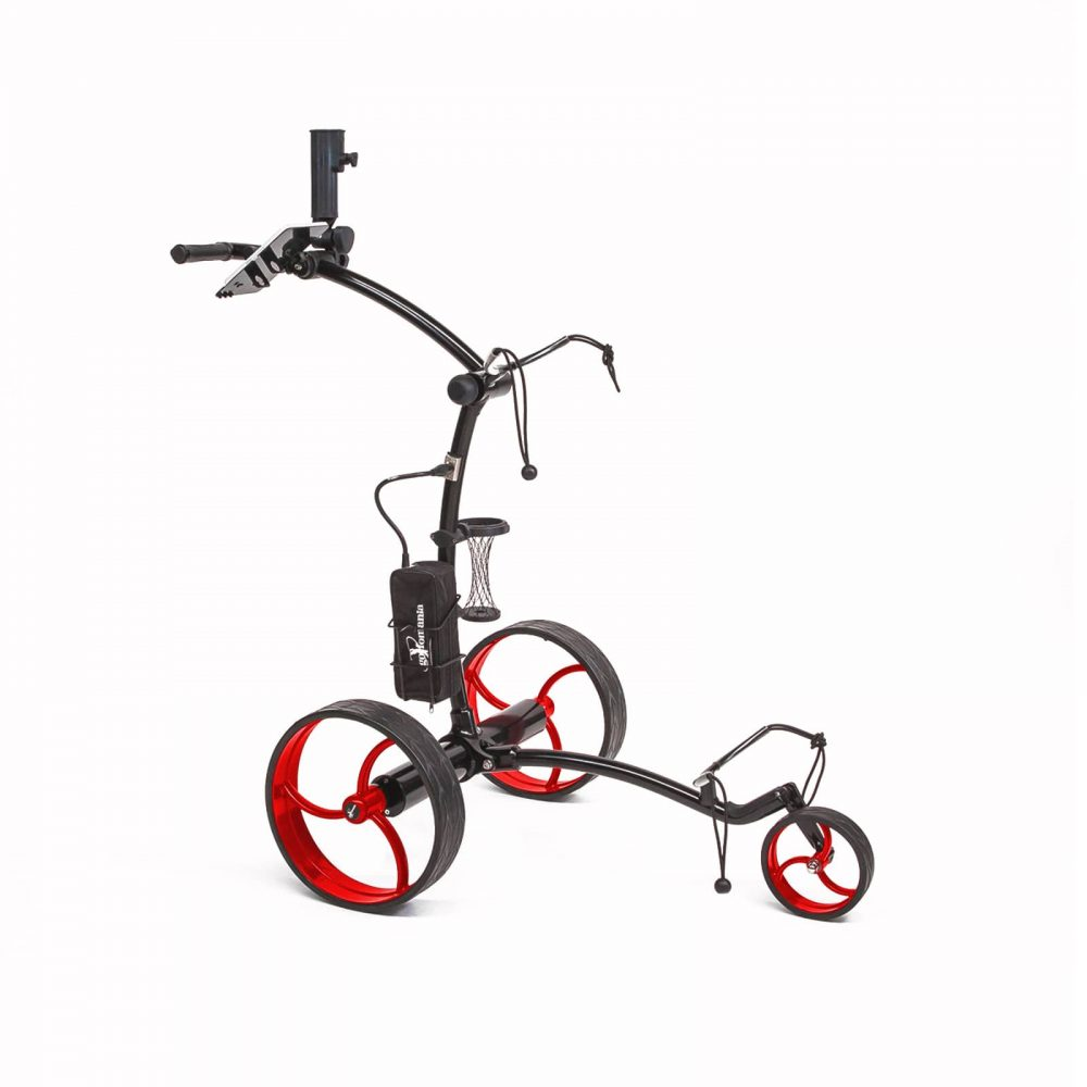 Golfomania ProCaddy Elektro Golf Trolley Schwarz/Hot-Red